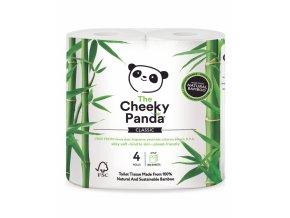 The Cheeky Panda Toaletný papier 3-vrstvový 200 útržkov 4 kotúče