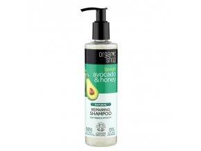 Organic Shop Regenerační šampón Avokádo a Med 280 ml