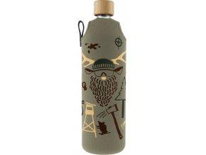 Drinkit Skleněná láhev s neoprénovým obalem Hunter 700 ml