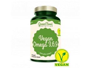 GreenFood Vegan Omega 3,6,9 60 kapslí