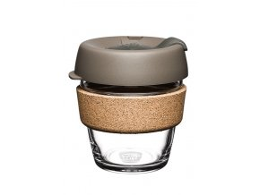 KeepCup Skleněný hrnek Brew Cork Latte XS 177 ml