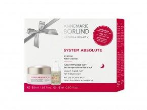 Annemarie Börlind Výhodná sada System Absolute Nočný krém 50 ml + Anti-age pleťové sérum 15 ml