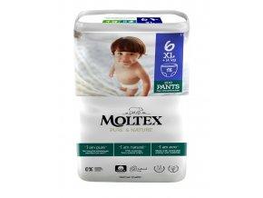 Moltex Pure & Nature Natahovacie plienkové kalhotky Junior XL 14+  kg 18 ks