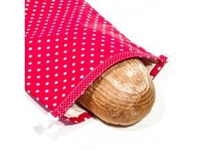Green Smile Ekologický vak na chleba s membránou Červený puntík