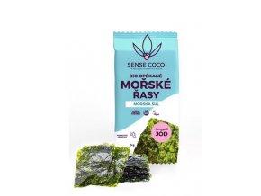 SENSE COCO Opekané morské riasy Nori s morskou soľou Bio 5 g