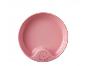 Mepal Dětský trénovací talíř Mio Pink