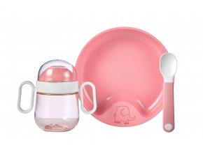 Mepal Dětská jídelní sada Mio 3 ks Pink