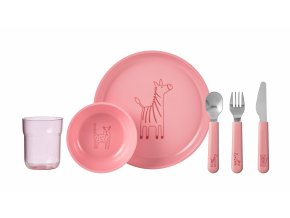 Mepal Dětská jídelní sada Mio 6 ks Pink