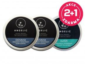 Angelic 2 + 1 ZADARMO Organický deodorant Odvaha + Svěží