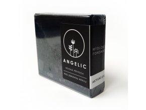 Angelic mydlová fondant aktívne uhlie 105g