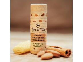 Ťuli a Ťuli Přírodní balzám na rty mandle - skořice 20ml