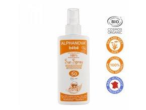 Alphanova SUN Opaľovacie mlieko pre bábätká SPF 50 125 ml BIO