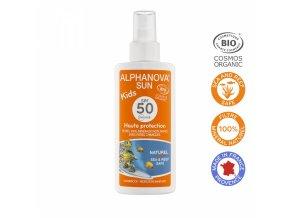 Alphanova SUN Opaľovací krém v spreji pre deti SPF 50 125g BIO
