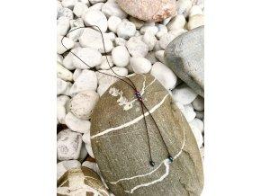 2bears Jewellery Dámsky náhrdelník s polodrahokamom farebného hematit 3 guľôčky