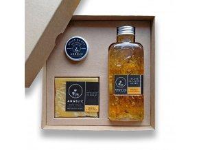 Dárková krabička Angelic Tělové olejové Cuvée Měsíček s meduňkou
