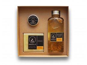Darčeková krabička Angelic Sprchové olejové Cuvée Nechtík s medovkou