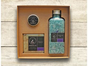 Dárková krabička Angelic Koupelová sůl Levandulové zklidnění