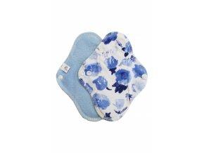 Slipovka froté pul Modrá, Modré květy