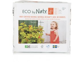 Eco by Naty Babycare Maxi 4+ 9-20kg 24 ks