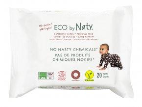 Eco by Naty Babycare Vlhčené ubrousky bez vůně - pro citlivou pokožku 20 k