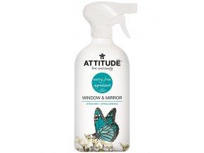 Attitude Čistič na sklo a zrkadlá s vôňou citrónovej kôry s rozprašovačom 800 ml