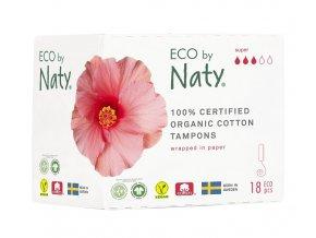 Eco by Naty Dámske ECO tampóny Super 18 ks