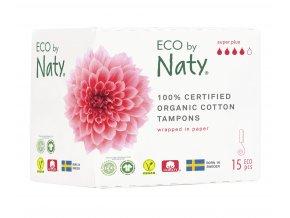 Eco by Naty Dámske ECO tampóny Super Plus 15 ks