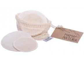 Mama Natura Sada kozmetických tampónov z biobavlneného zamatu malý 4 ks + veľký 2 ks