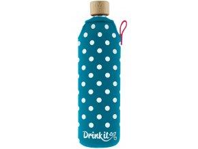 Drinkit Sklenená fľaša s neoprénovým obalom Lentilka 700ml