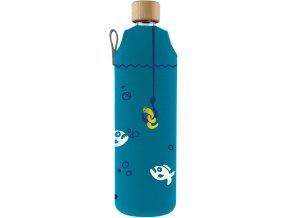 Drinkit Sklenená fľaša s neoprénovým obalom Pirane 700ml
