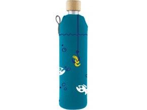 Drinkit Sklenená fľaša s neoprénovým obalom Pirane 500ml