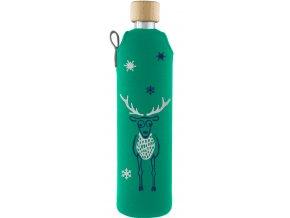Drinkit Sklenená fľaša s neoprénovým obalom Jelen 500ml