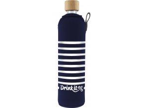 Drinkit Sklenená fľaša s neoprénovým obalom Námorník 500ml