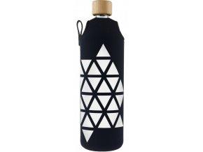 Drinkit Sklenená fľaša s neoprénovým obalom Triangel 700ml