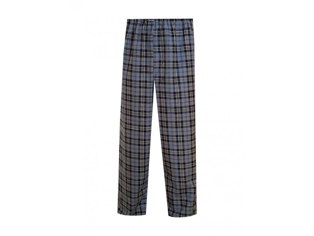 d0d84e6ebc2a Pánské Pyžamové kalhoty Flanel Foltýn dlouhé šedá kostka ...