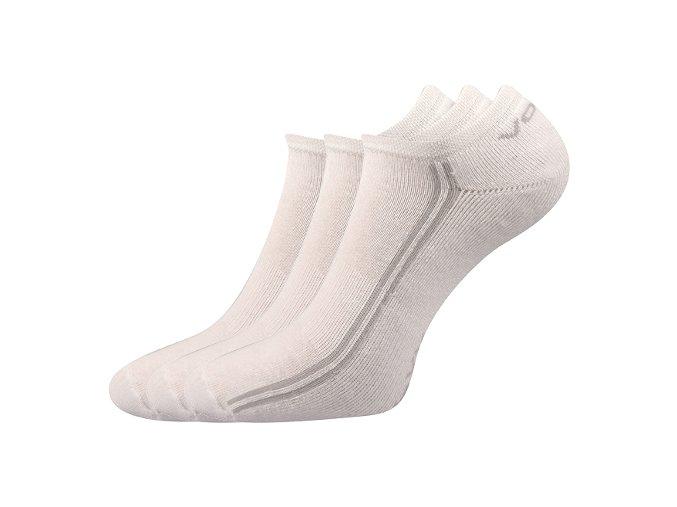 Sportovní Ponožky VoXX Basic 3 kusy v balení bílá