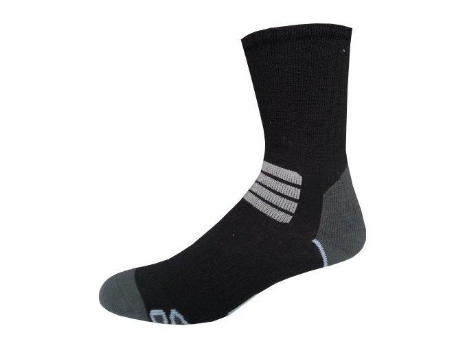 Sportovní Ponožky NOVIA Thermo černobílá