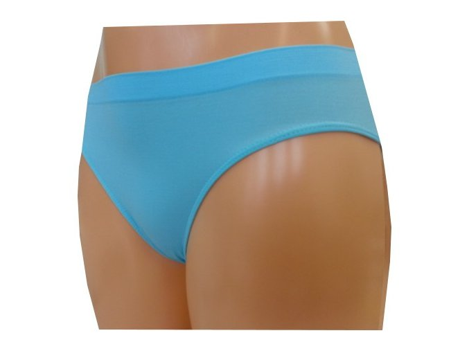 Dámské Bezešvé Kalhotky Novia Bikini Azurová