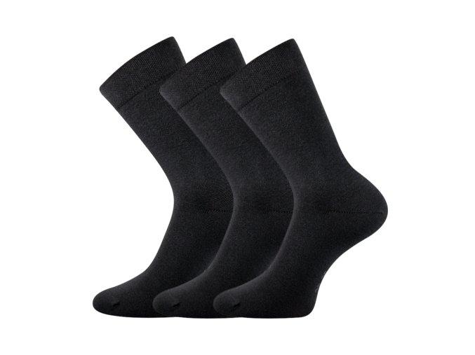 Zdravotní ponožky 3 kusy v balení Lonka Marcel tmavě šedá
