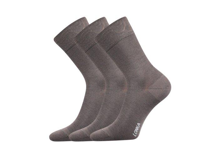 Bambusové ponožky 3 kusy v balení Lonka Debob šedá