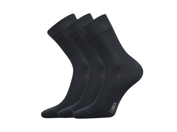 Bambusové ponožky 3 kusy v balení Lonka Debob tmavě šedá