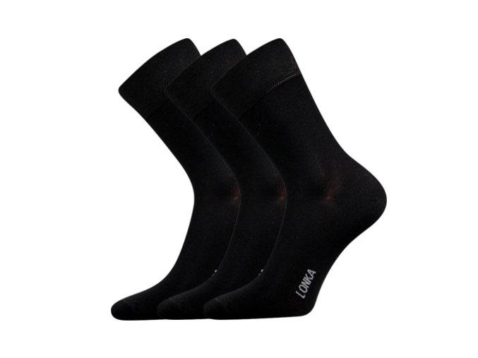 Bambusové ponožky 3 kusy v balení Lonka Debob černá