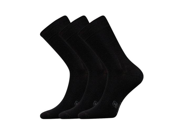 Společenské ponožky 3 kusy v balení Lonka Fasilva černá
