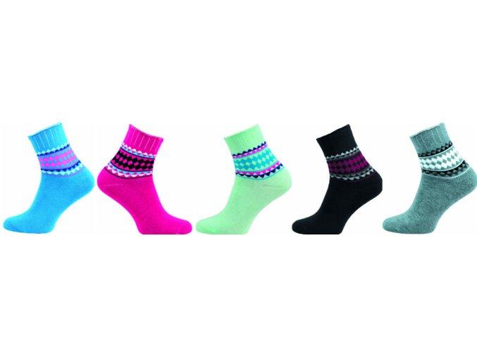 Dámské Bambusové ponožky 5 kusů v balení Novia Bambus froté 214N