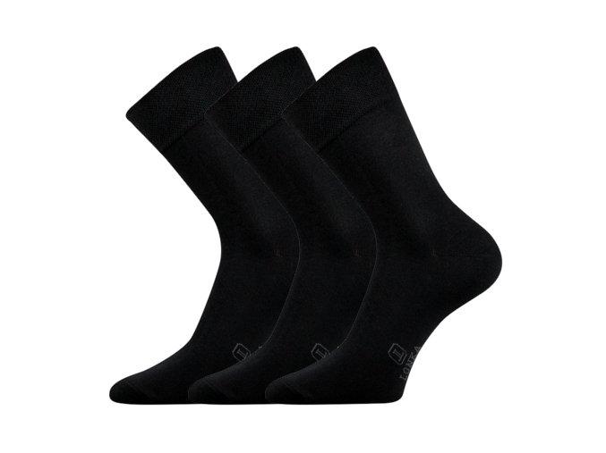 Společenské ponožky 3 kusy v balení Lonka Dasilver černá