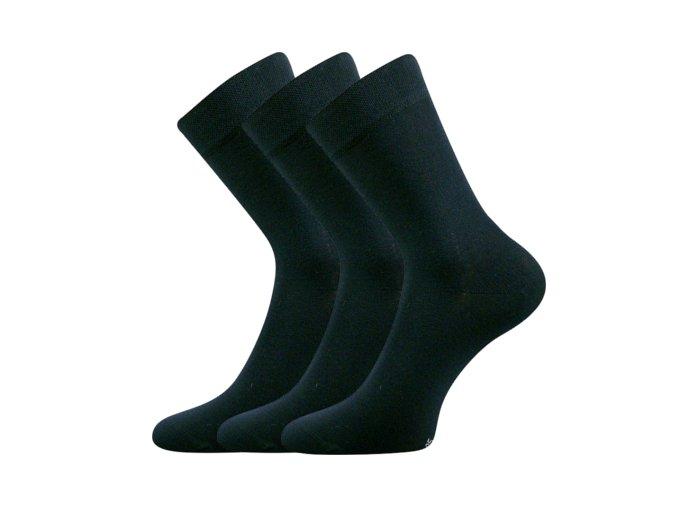 Společenské ponožky 3 kusy v balení Lonka Dypak tmavě modrá