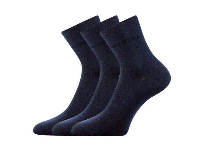 Společenské ponožky 3 kusy v balení Lonka Gazdan tmavě modrá