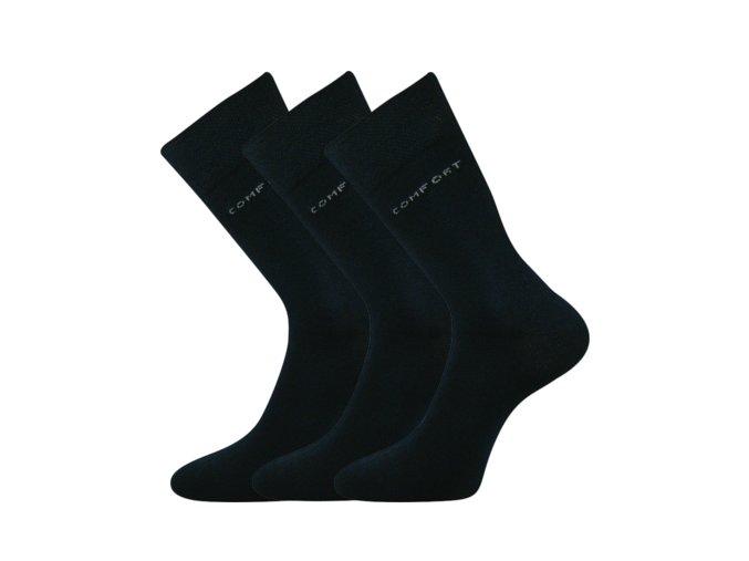 Společenské ponožky 3 kusy v balení Lonka Comfort tmavě modrá
