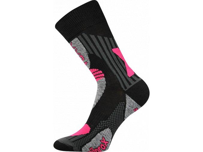 Sportovní Ponožky VoXX Vision černorůžová