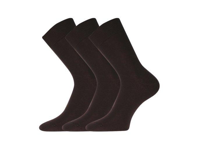 Společenské ponožky 3 kusy v balení Lonka Blažej 100% bavlněné hnědá